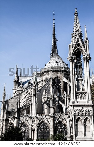 Cathedral Notre Dame de Paris, France, Europe ( HDR image )
