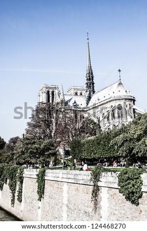 Cathedral Notre Dame de Paris, France, Europe ( HDR image )