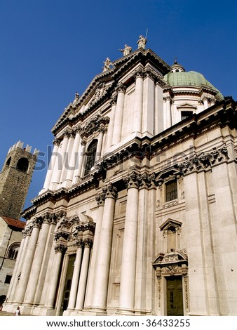 Cathedral of Brescia, medieval city located in northern of Italy