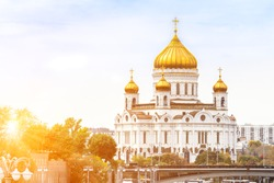 Cathedral of Christ the Saviour in Moscow, Russia, the largest orthodox church ever built