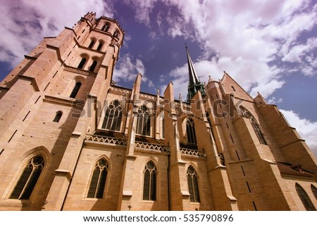 cathedral of dijon  france.