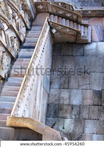 Cathedral of Duomo, gothic architecture details, Milan