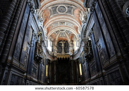 cathedral of Evora in Portugal