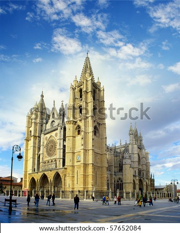 Cathedral of Leon, Spain, Europe