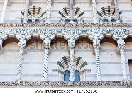 Cathedral of Lucca. Details.