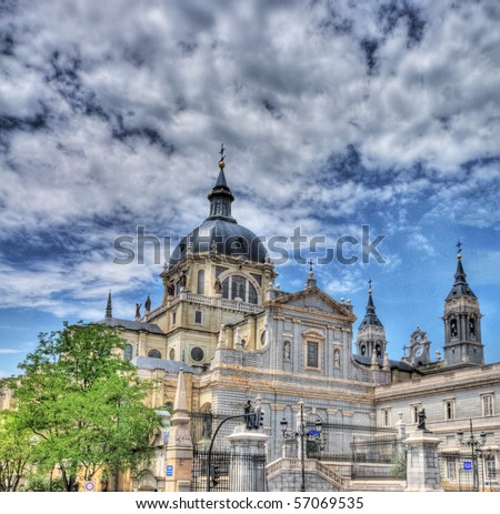 cathedral of Madrid ,Spain