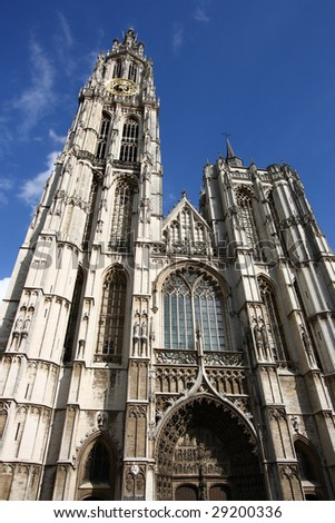 Cathedral of Our Lady in Antwerp, Belgium (Onze-Lieve-Vrouwekathedraal)