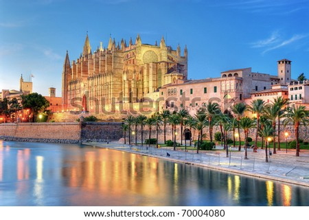 Cathedral of Palma de Majorca - stock photo