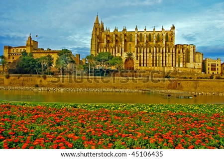 cathedral of  Palma de mallorca in spain