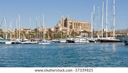 Cathedral of Palma de Mallorca, Spain - stock photo