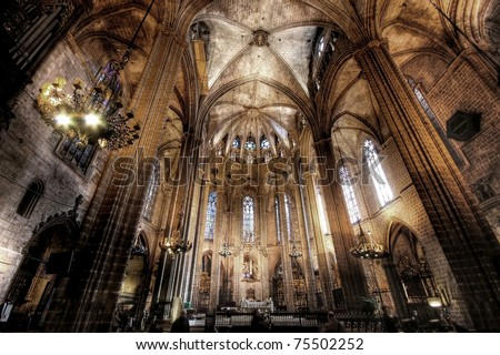 Cathedral of Saint Eulalia in Barcelona, Spain