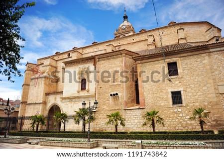 Cathedral of Saint Mary of the Meadow (Santa María del Prado) in Ciudad Real, Castilla la Mancha, Spain Foto stock ©