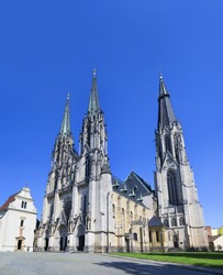 Cathedral of Saint Wenceslas, Olomouc, Czech Republic / Czechia, Central Europe - beautiful gothic landmark from middle ages