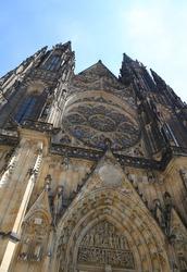 Cathedral of Saints Vitus Wenceslaus and Adalbert  in Prague Czech Republic