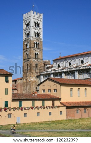 Cathedral of San Martino in Lucca, Italy.