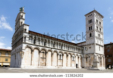Cathedral of San Michele in Foro in Lucca, Italy