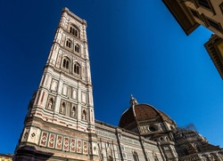 Cathedral of Santa Maria del Fiore and Giotto's Bell Tower in Florence, Italy