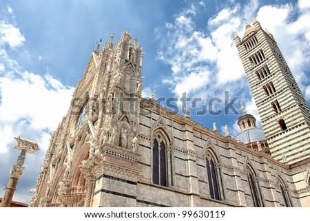cathedral of Siena, Duomo di Santa Maria Assunta, wide-angle view