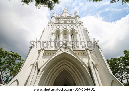 Cathedral of St Andrew in Singapore, largest cathedral in Singapore
