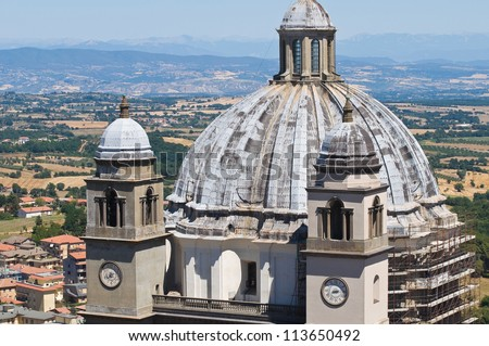 Cathedral of St. Margherita. Montefiascone. Lazio. Italy. - stock photo