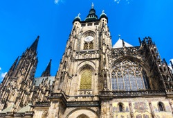 Cathedral of St. Vitus, Wenceslas and Vojtech in Prague Castle, Czech Republic