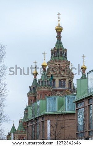 Cathedral of the Archangel and Cathedral of the Annunciation on Cathedral square, Moscow Kremlin, Russia #1272342646