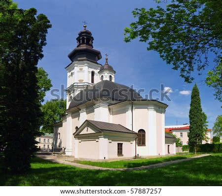 Cathedral of the Resurrection and St. Thomas the Apostle in Zamosc - Renaissance church in the Old Town of Zamosc was built at the end of the sixteenth century.