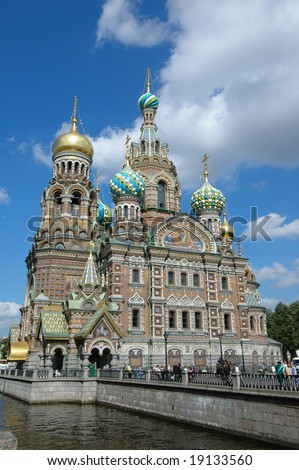 Cathedral of the Saviour on Spilled Blood in St. Petersburg, Russia