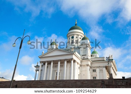Cathedral on Senate Square in Helsinki. Finland.