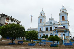 Cathedral Our Lady of the Conception (Mother Church). The church is located in the Matriz square in Santarem, state of Para, Brazil.