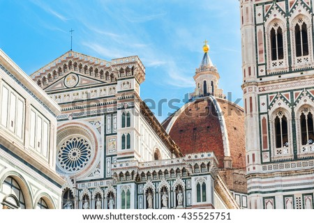 Cathedral Santa Maria del Fiore in Florence, Italy.  #435525751