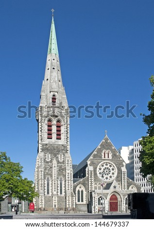 Cathedral Square in Christchurch, New Zealand