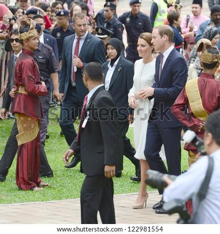 Catherine, Duchess of Cambridge and Prince William visit Kuala Lumpur Centre Park, Kuala Lumpur, Malaysia.  September 14, 2012.