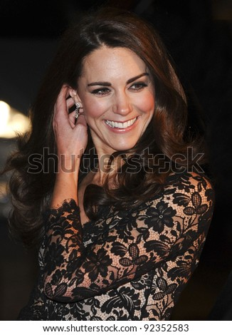 "Catherine, Duchess of Cambridge arriving for the premiere of ""War Horse"" at the Odeon Leicester Square, London. 09/01/2012  Picture by: Steve Vas / Featureflash"