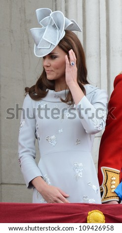 Catherine Duchess of Cambridge attend the Trooping Of The Colour at Horse Guards Parade, London, UK. June 16, 2012, Picture: Catchlight Media / Featureflash