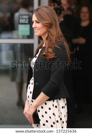 Catherine Duchess of Cambridge attending the Inauguration of Warner Bros. Studios in Watford, England. 26/04/2013