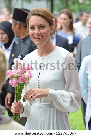 Catherine, Duchess of Cambridge visits Kuala Lumpur Centre Park, Kuala Lumpur, Malaysia.  September 14, 2012.
