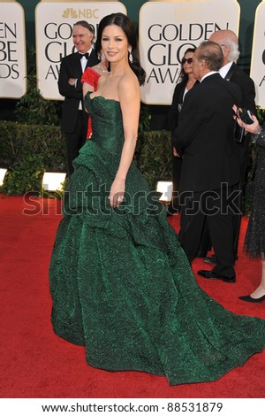 Catherine Zeta-Jones at the 68th Annual Golden Globe Awards at the Beverly Hilton Hotel. January 16, 2011  Beverly Hills, CA Picture: Paul Smith / Featureflash