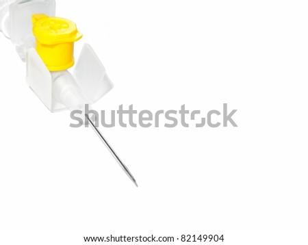Catheter isolated on white background