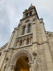 Catholic Church located in Argenteuil, France near Paris. Liberté Égalité Fraternité. The place where the shirt of Jesus Chris is located.