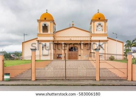 Catholic church located n Aguas Zarcas in province of Alajuela in Costa Rica