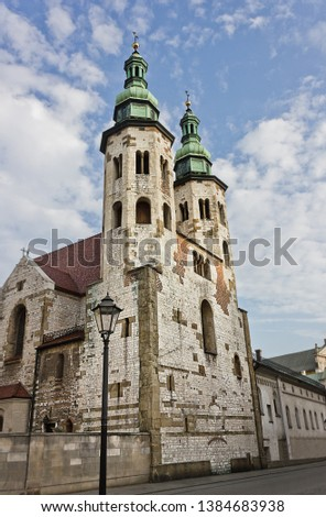 Catholic church of St. Andrew the 11th century in Krakow, Poland. Sights of Poland #1384683938