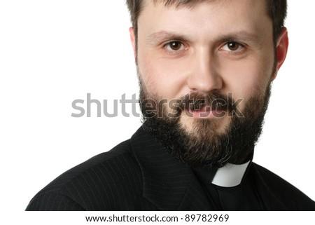 Catholic priest at morning prayer