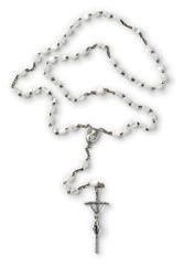 Catholic rosary isolated at white background