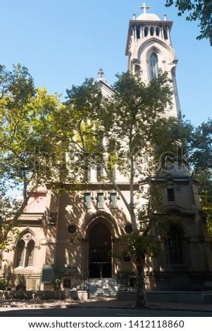 Catholic temple Iglesia Metodista in capital of Uruguay. Montevideo, Uruguay, South America #1412118860