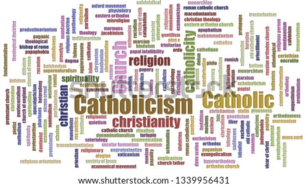 Catholicism Tagcloud Mixed Isolated