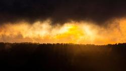 Cati Mountain Range at sunset from Caro Mountain Range, in The Ports Natural Park of Terres de l'Ebre region of Tarragona province of Catalunya Autonomous Community of Spain, Europe