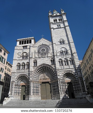 Cattedrale di San Lorenzo cathedral church, Genoa, Italy
