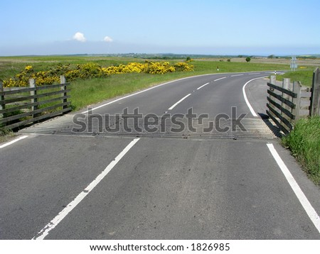 Cattle grid in North Yorkshire Moors, UK