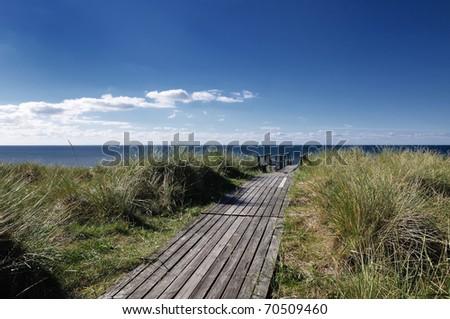 catwalk to the ocean